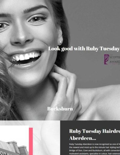ruby tuesday aberdeen website developed by Dieselgraf