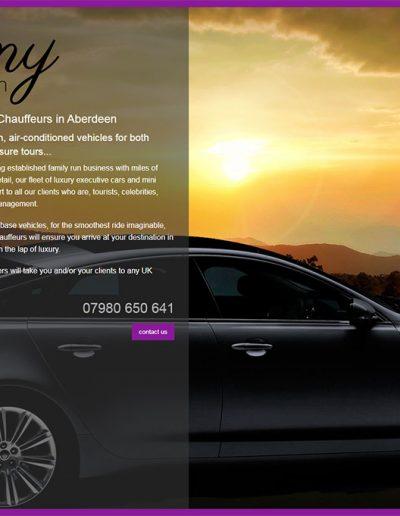 ebony chauffeurs website by dieselgraf